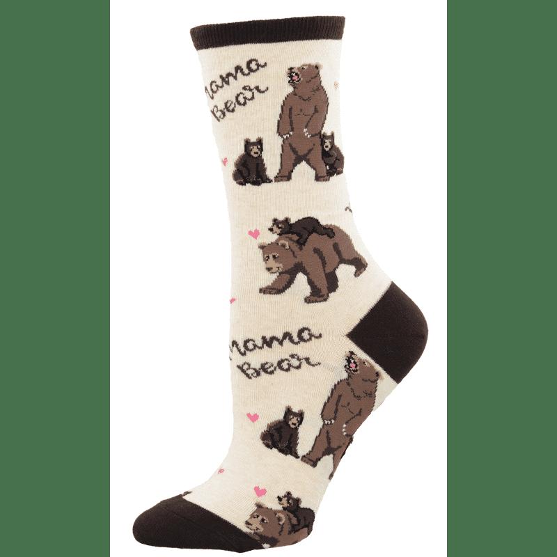 Socksmith Mama Bear Ivory Heather-min
