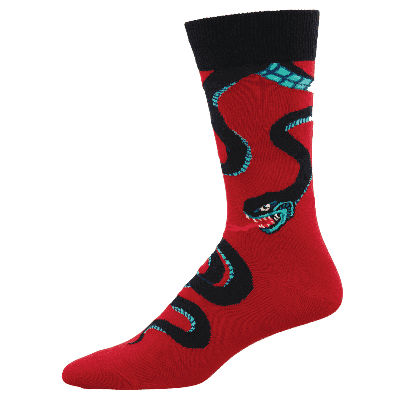 Socksmith Slither Me Timbers Red-min