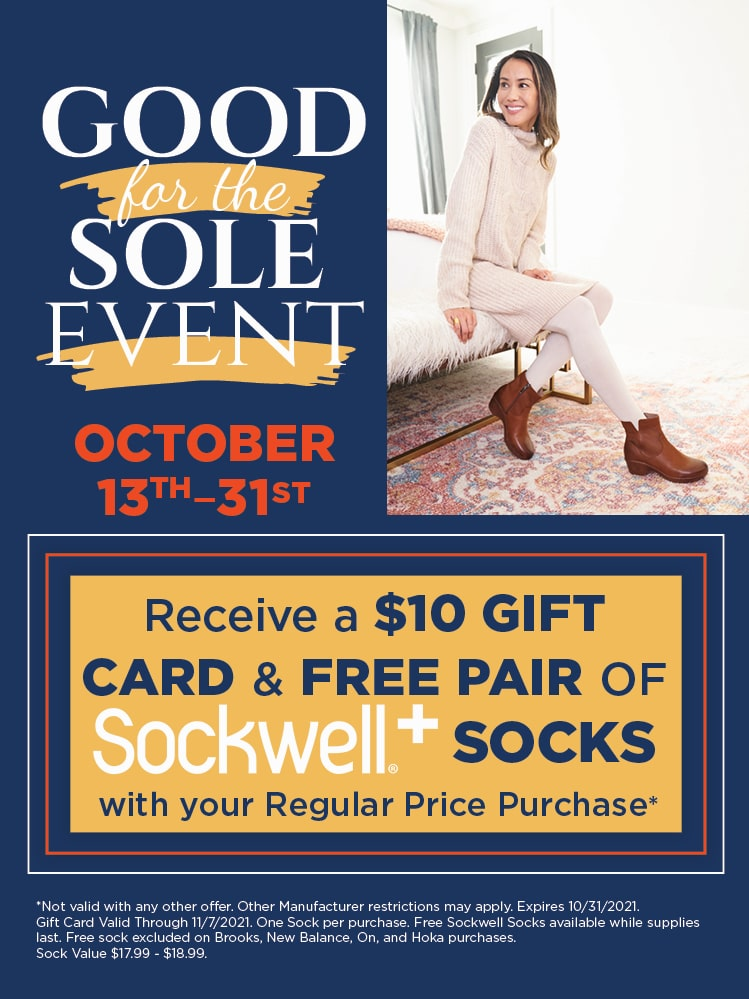 Good For The Sole Event: $10 Gift Card and a Free Pair of Socks